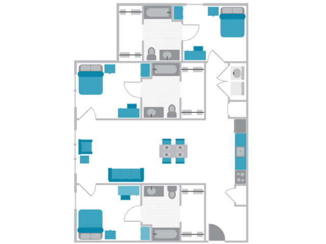 Grove at Slippery Rock Floor Plan 1